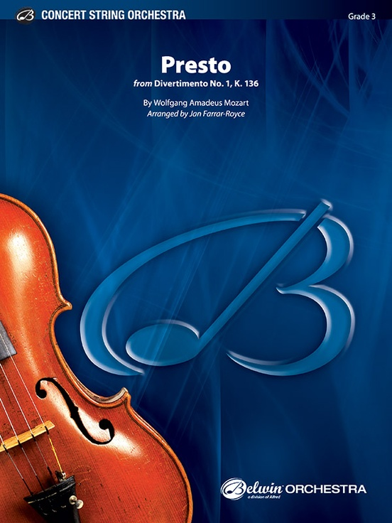 Presto (from Divertimento No.1 K.136) (String Orchestra – Score and Parts)