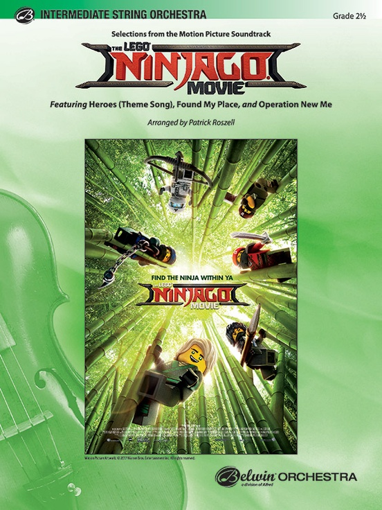 The Lego Ninjago Movie, Selections from (String Orchestra – Score and Parts)