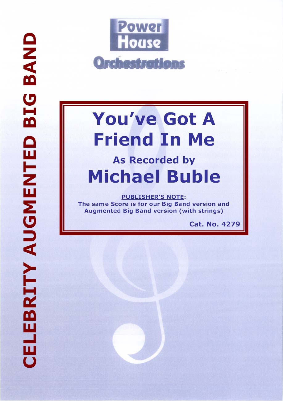 You've Got a Friend in Me (Vocal Solo with Augmented Big Band - Score and Parts)