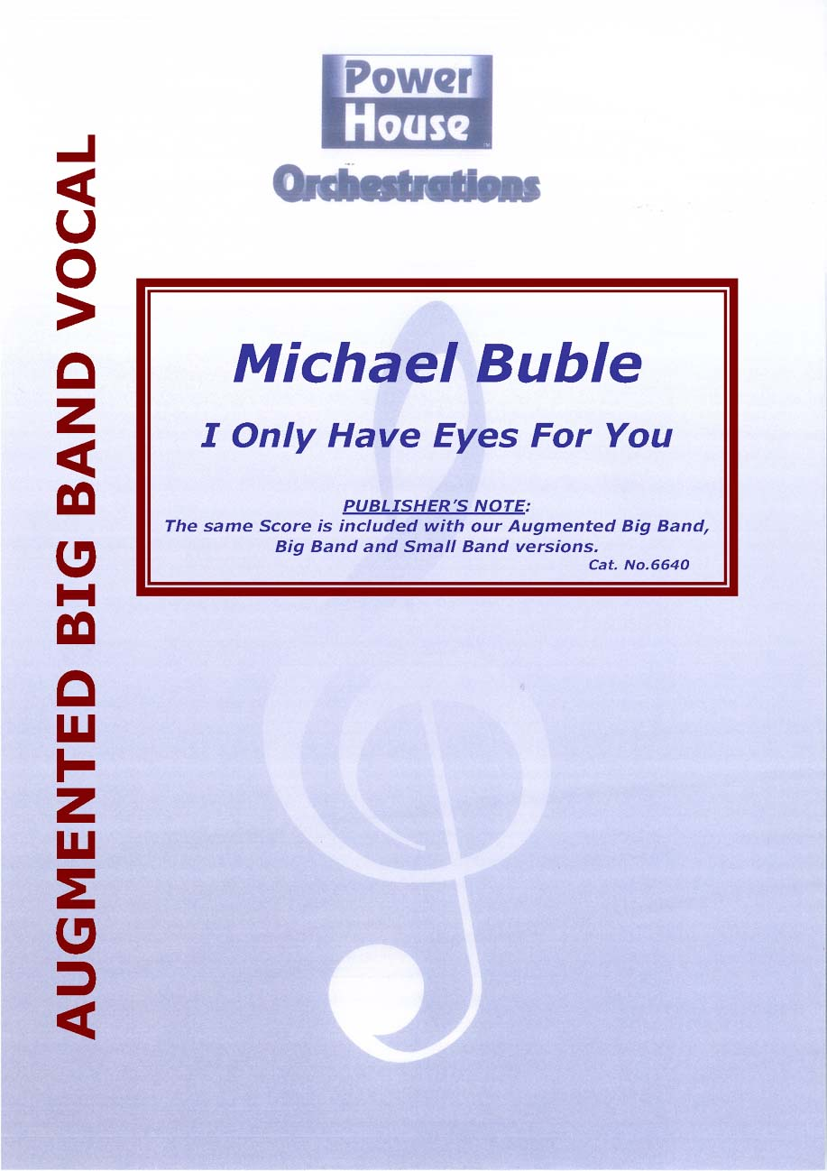 I Only Have Eyes for You (Vocal Solo with Augmented Big Band - Score and Parts)