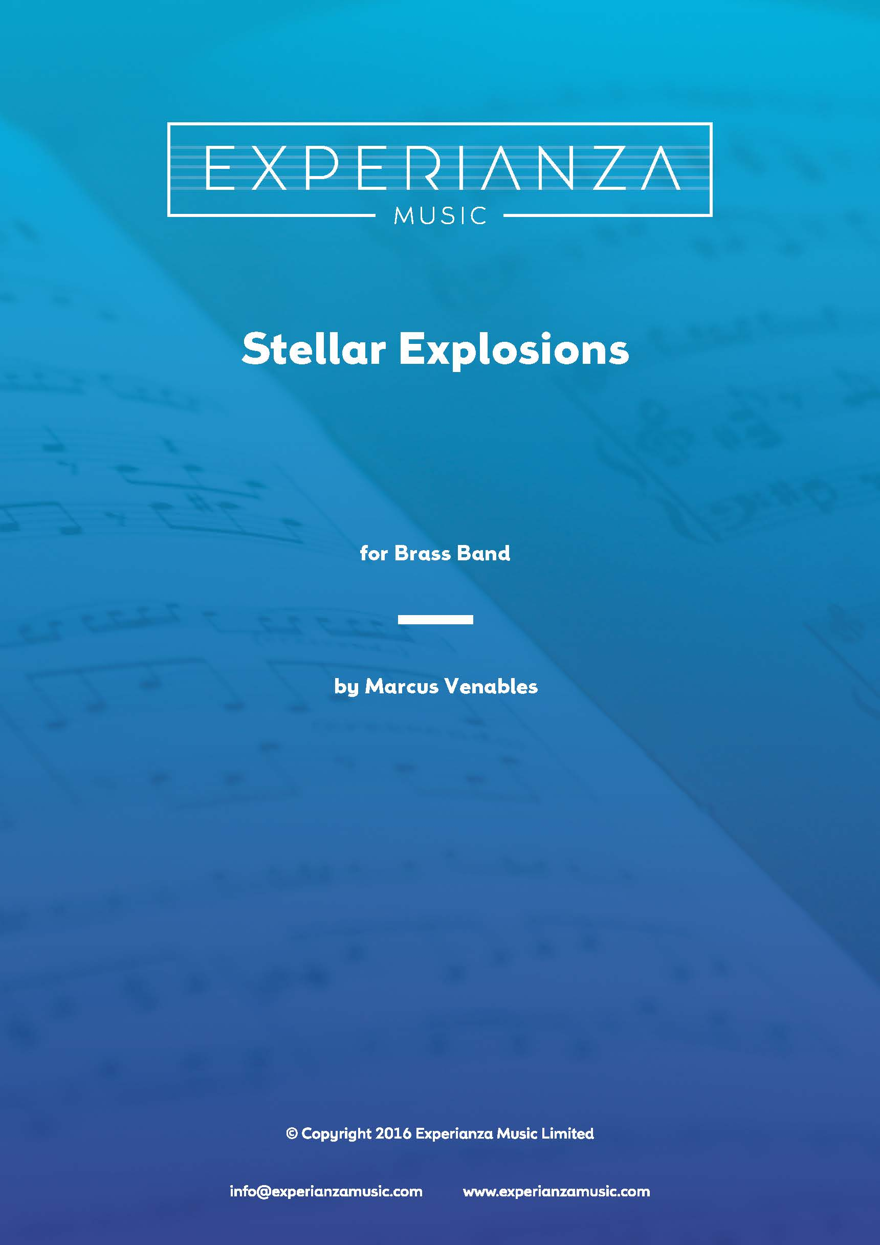 Stellar Explosions (Brass Band - Score and Parts)