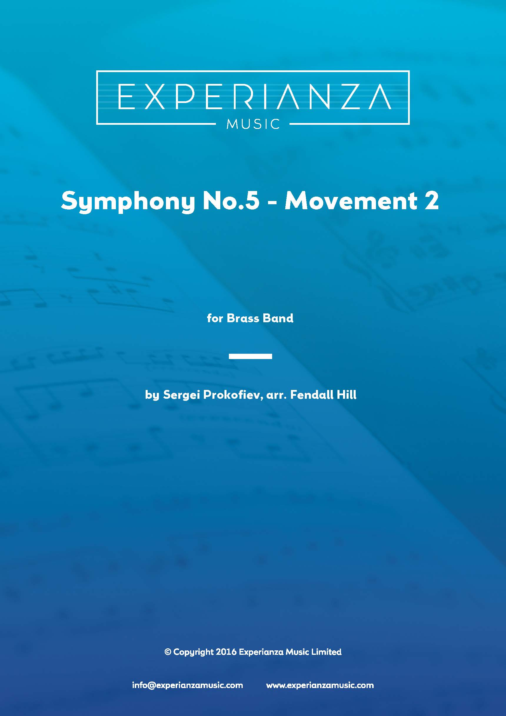 Symphony No.5, 2nd Movement (Brass Band - Score and Parts)
