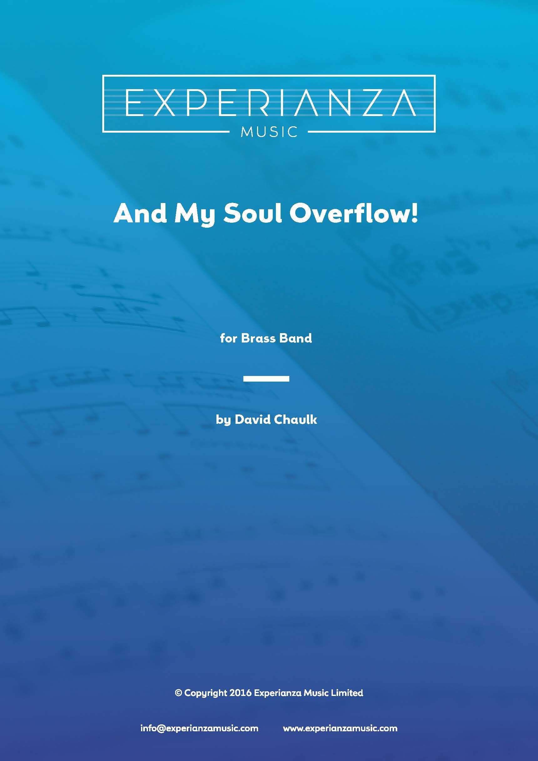 And My Soul Overflow (Brass Band - Score and Parts)