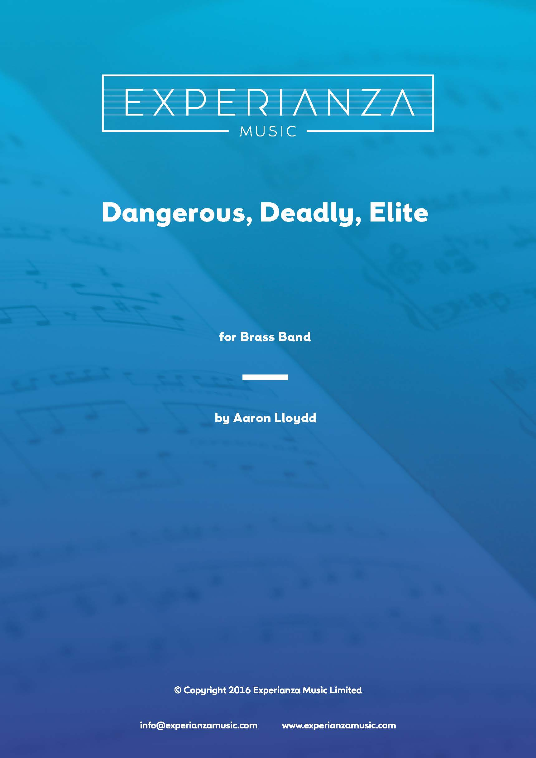Dangerous, Deadly, Elite (Brass Band - Score and Parts)
