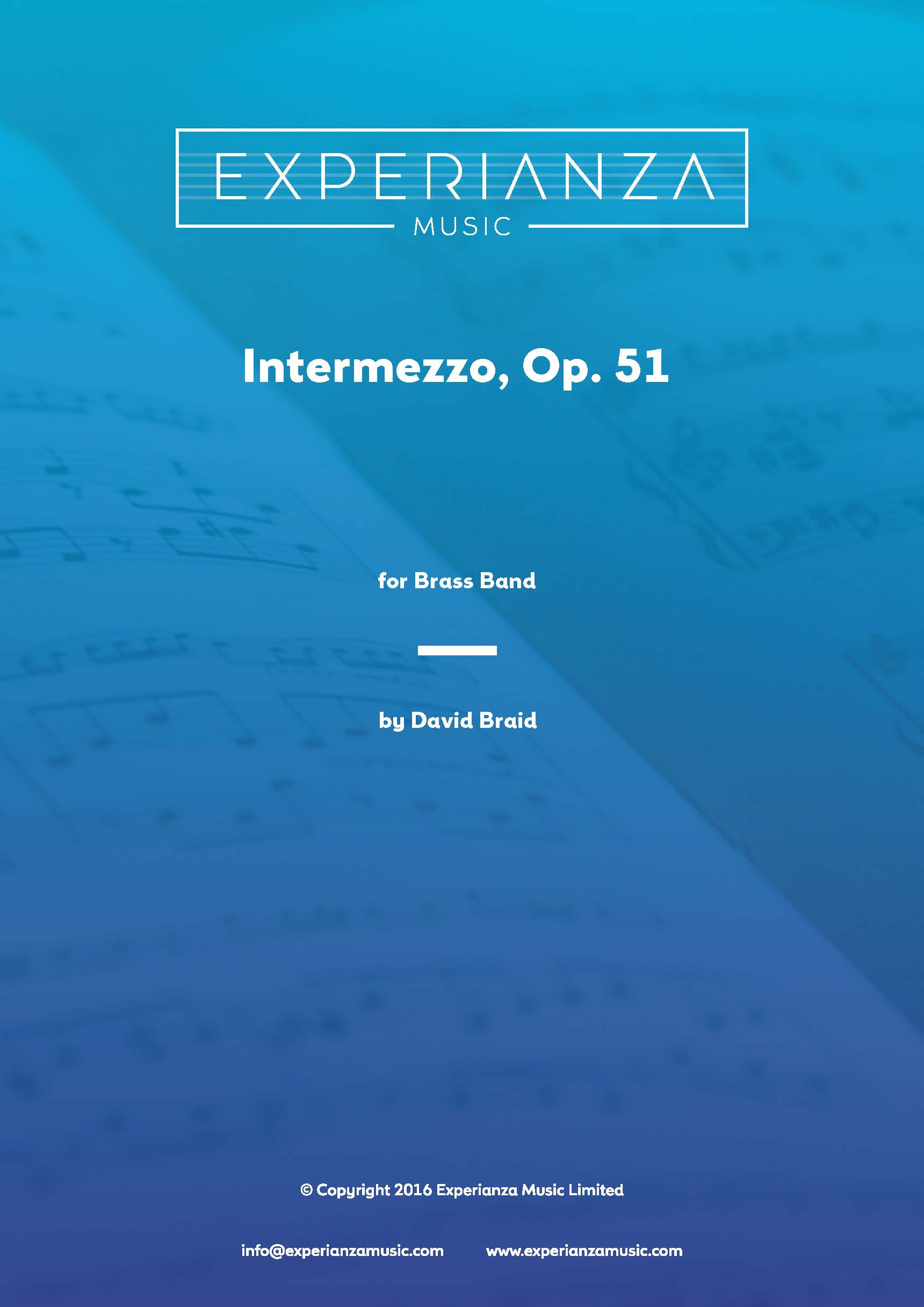 Intermezzo Op. 51 (Brass Band - Score and Parts)