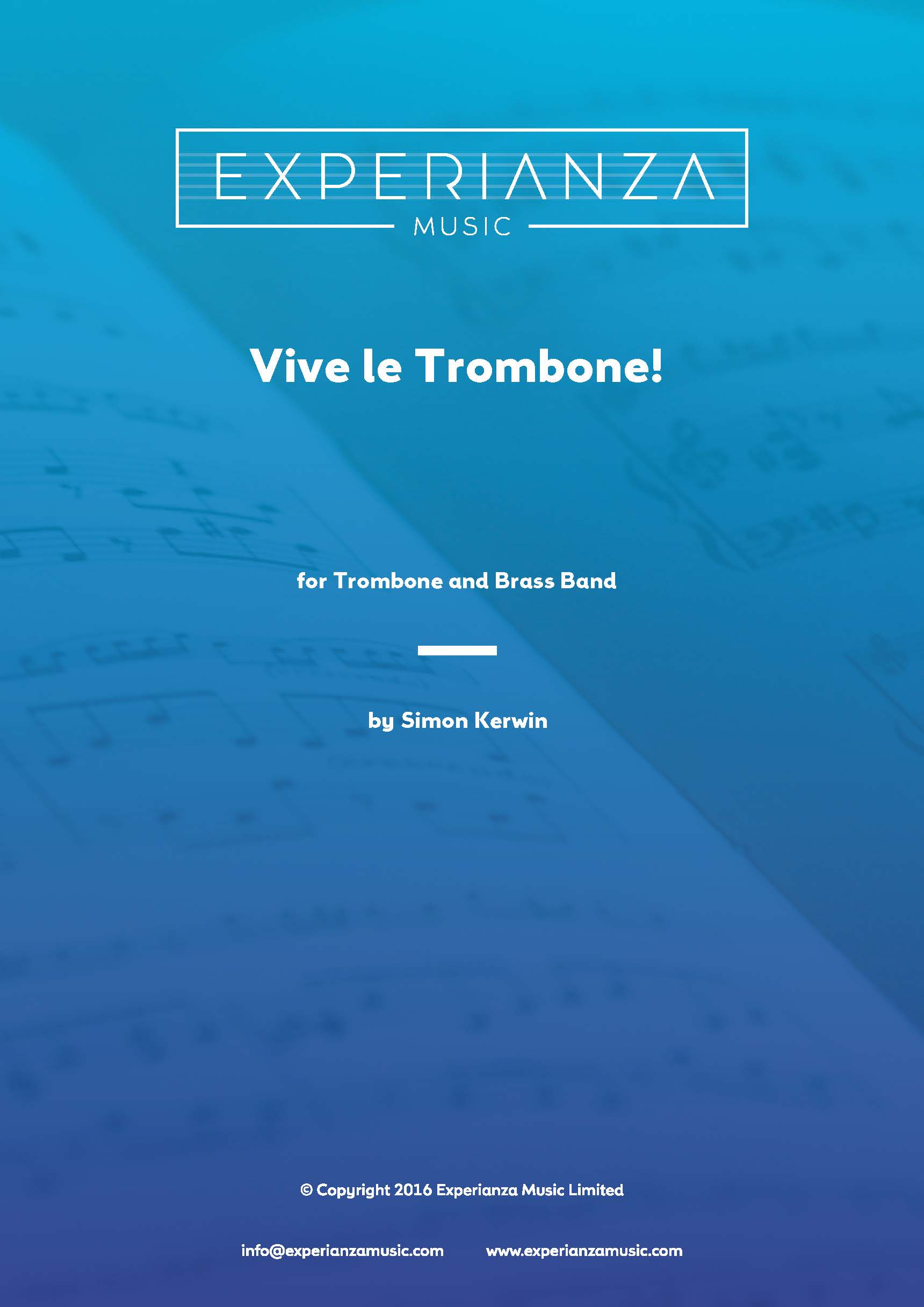 Vive le Trombone! (Brass Band - Score and Parts)