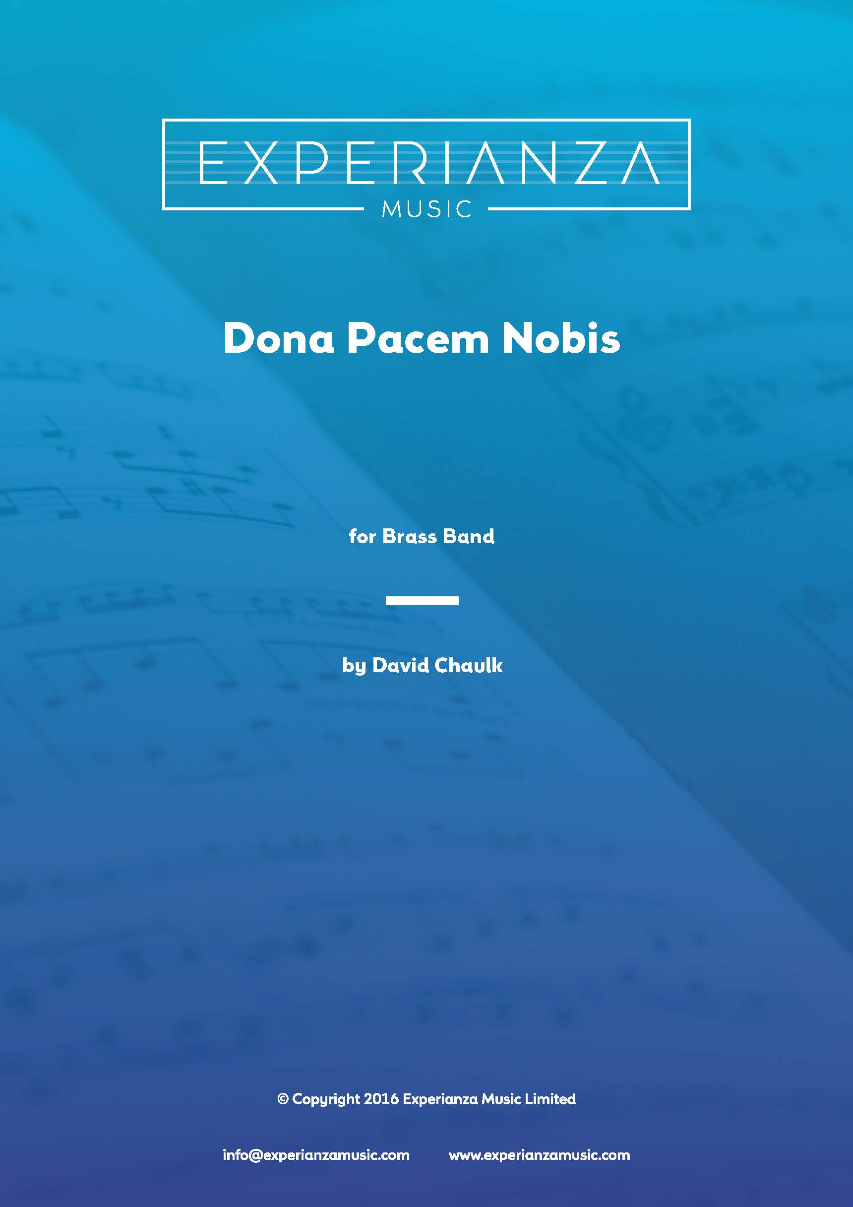 Dona Pacem Nobis (Brass Band - Score and Parts)