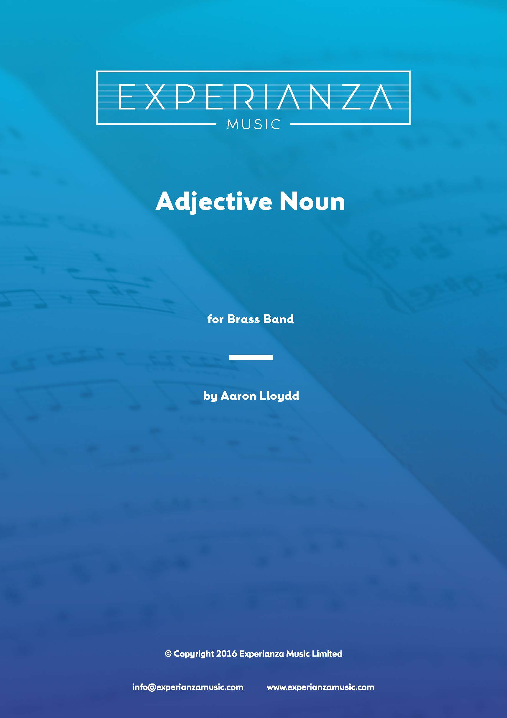 Adjective Noun (Brass Band - Score and Parts)