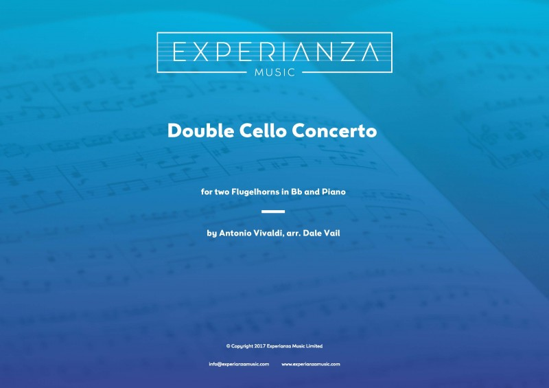 Double Cello Concerto for Two Flugelhorns (Brass Band - Score and Parts)