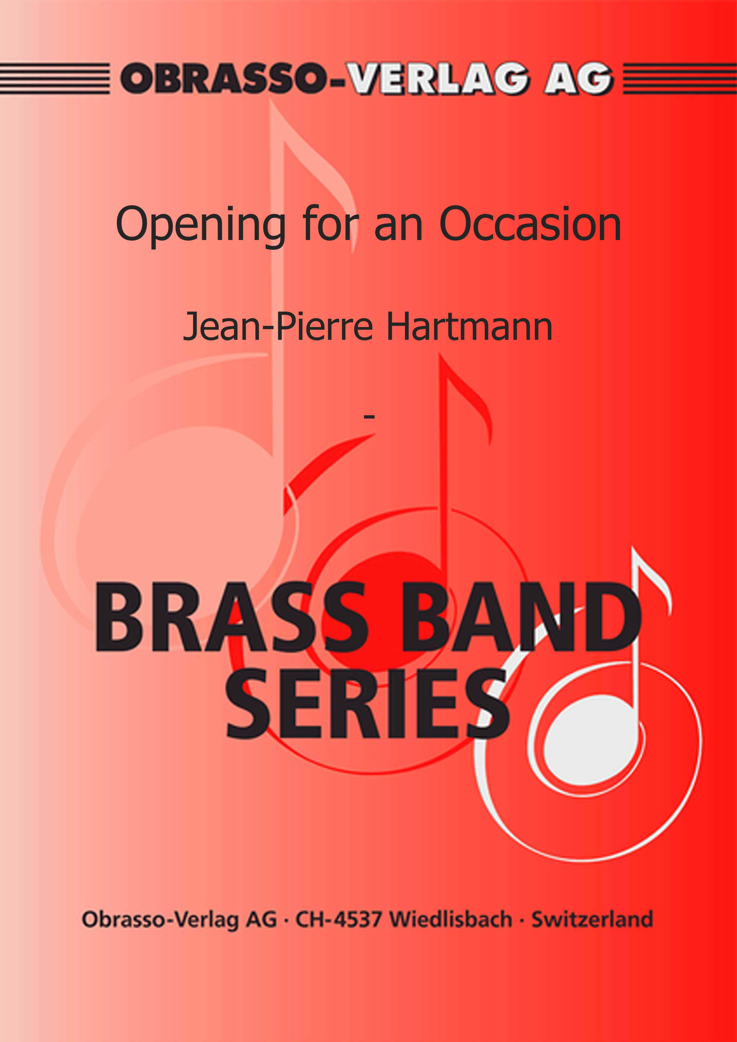 Opening for an Occasion (Brass Band - Score and Parts)