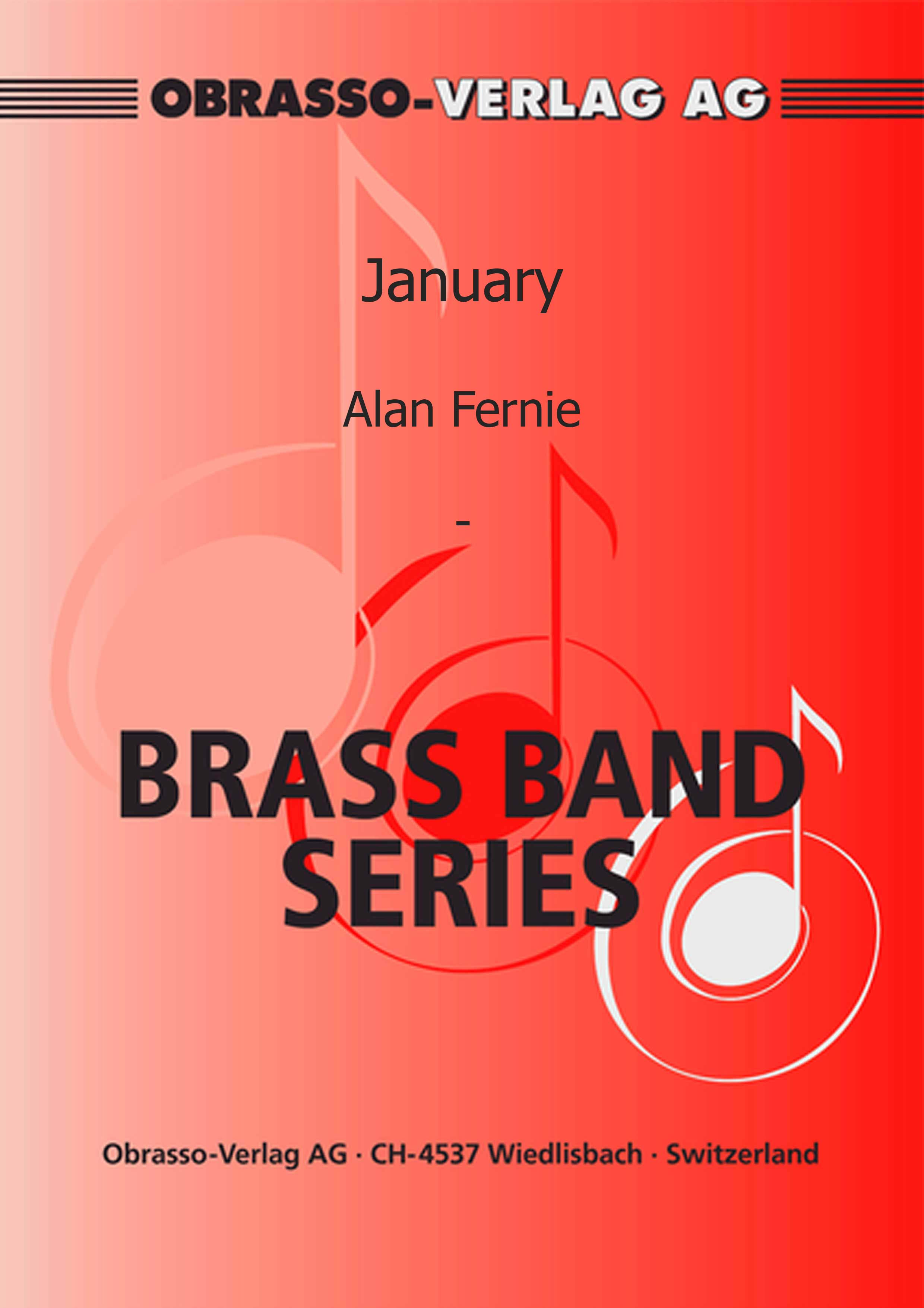 January (Flugel Horn Solo with Brass Band - Score and Parts)