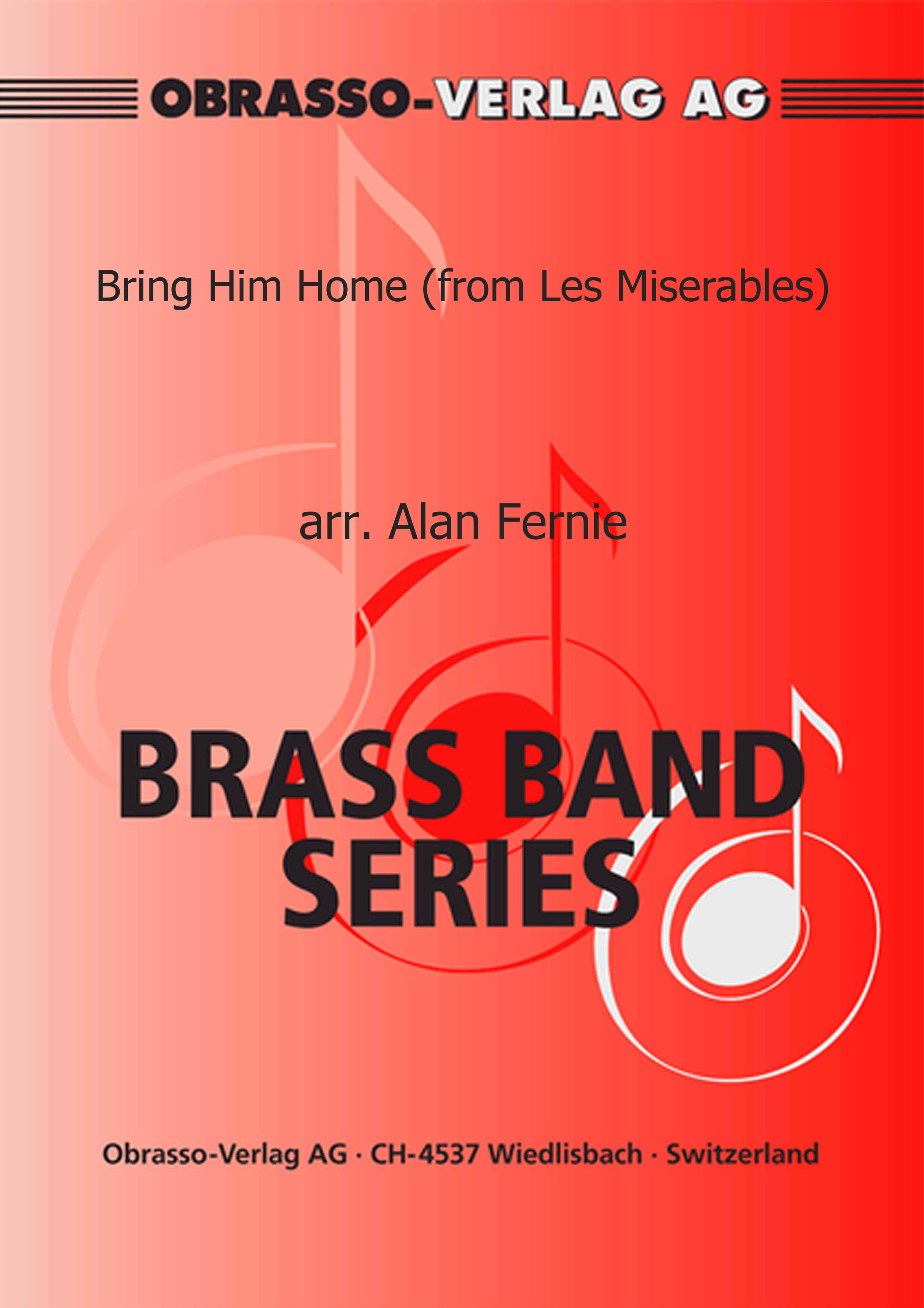 Bring Him Home (from Les Miserables) (Euphonium Solo with Brass Band - Score and Parts)