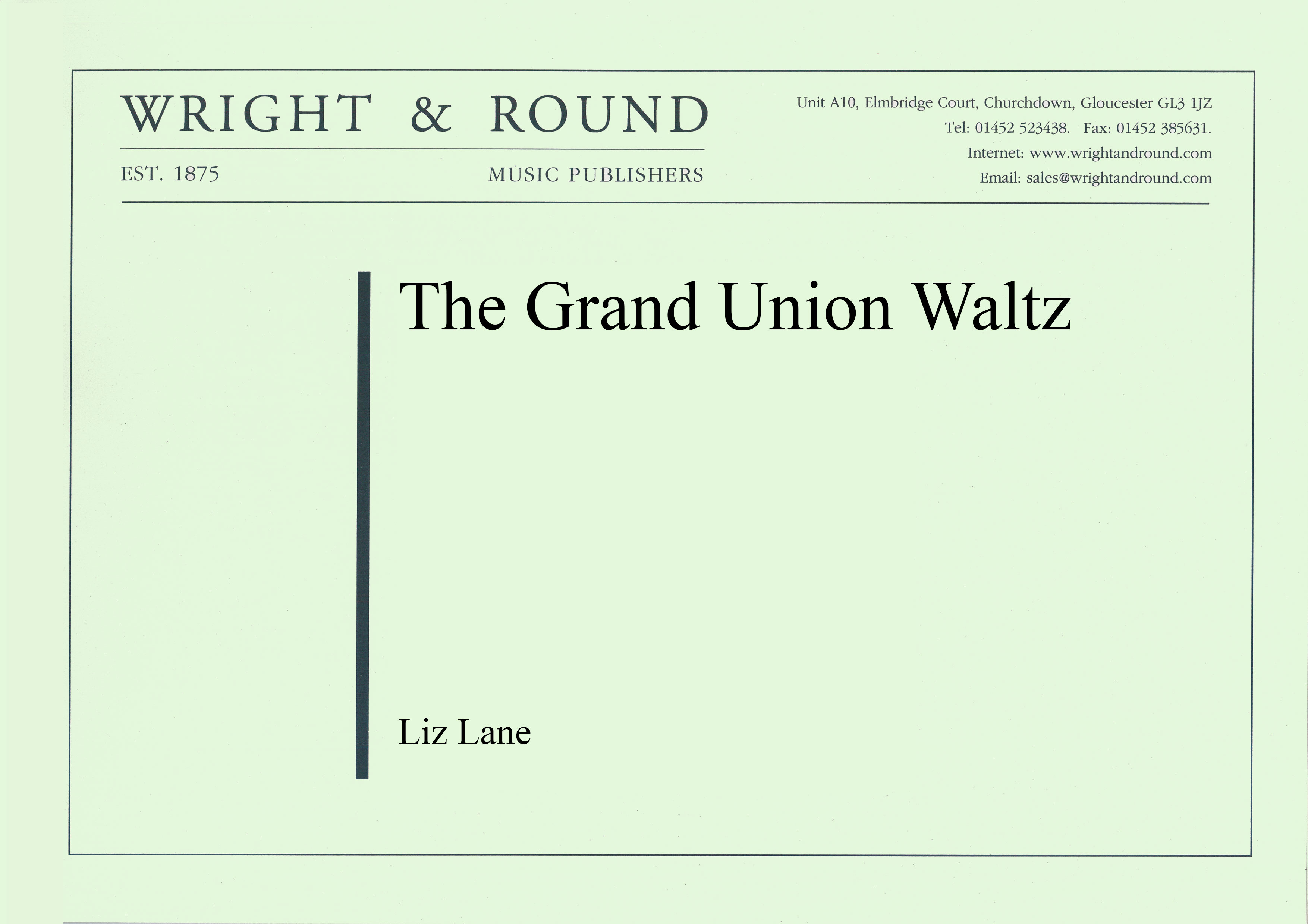 The Grand Union Waltz (Brass Band - Score and Parts)