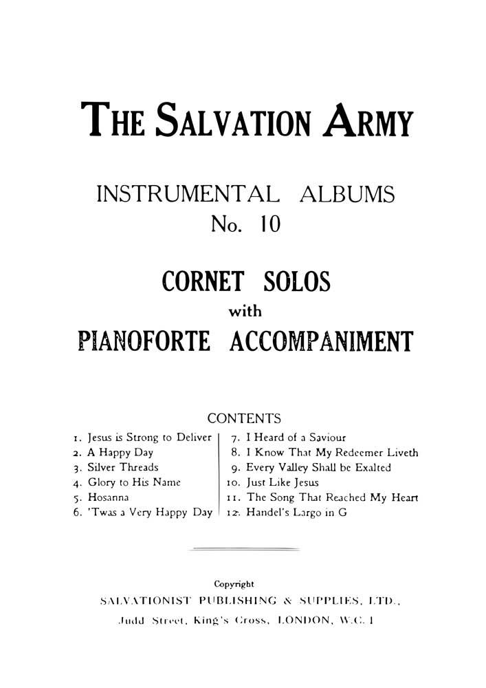 Instrumental Album No.10 - Cornet Solos