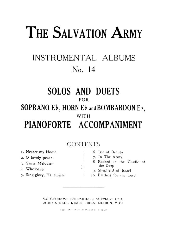 Instrumental Album No.14 - Eb Solos and Duets