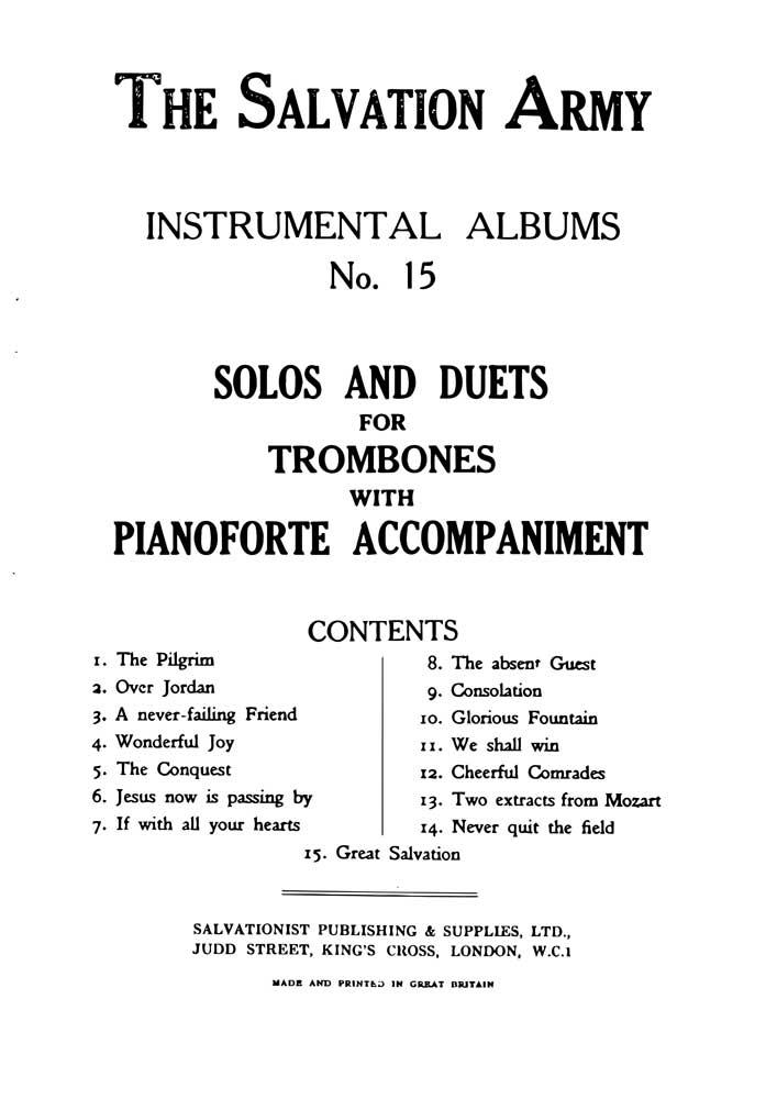Instrumental Album No.15 - Solos & Duets Trombone
