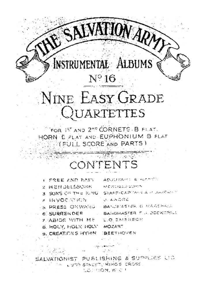 Instrumental Album No.16 - Nine Easy Quartettes