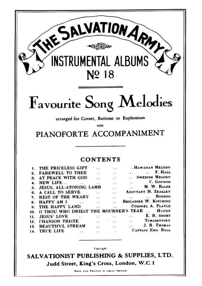 Instrumental Album No.18 - Favourite Song Melodies
