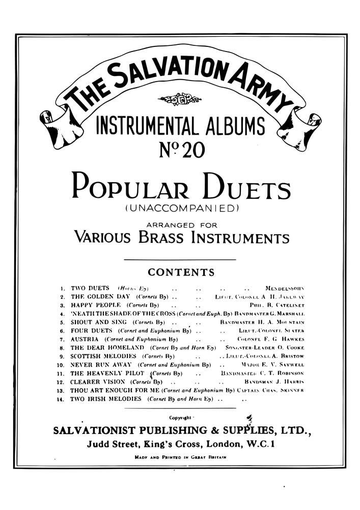 Instrumental Album No.20 - Popular Duets