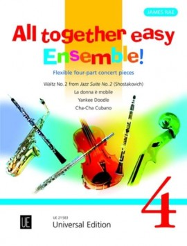 All Together Easy Ensemble Volume 4 (Flexible Four Part Ensemble)