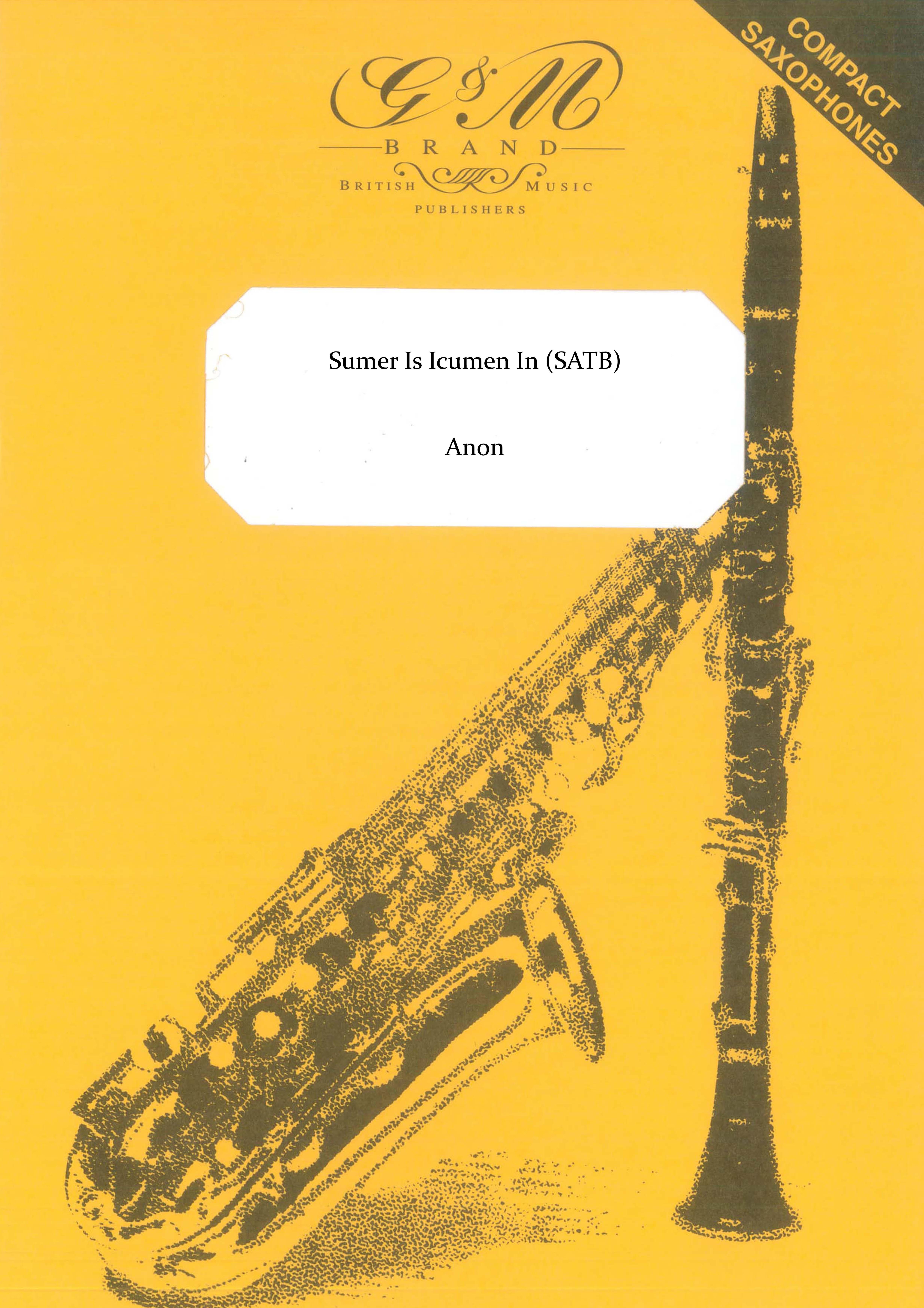 Sumer Is Icumen In (Saxophone Quartet)