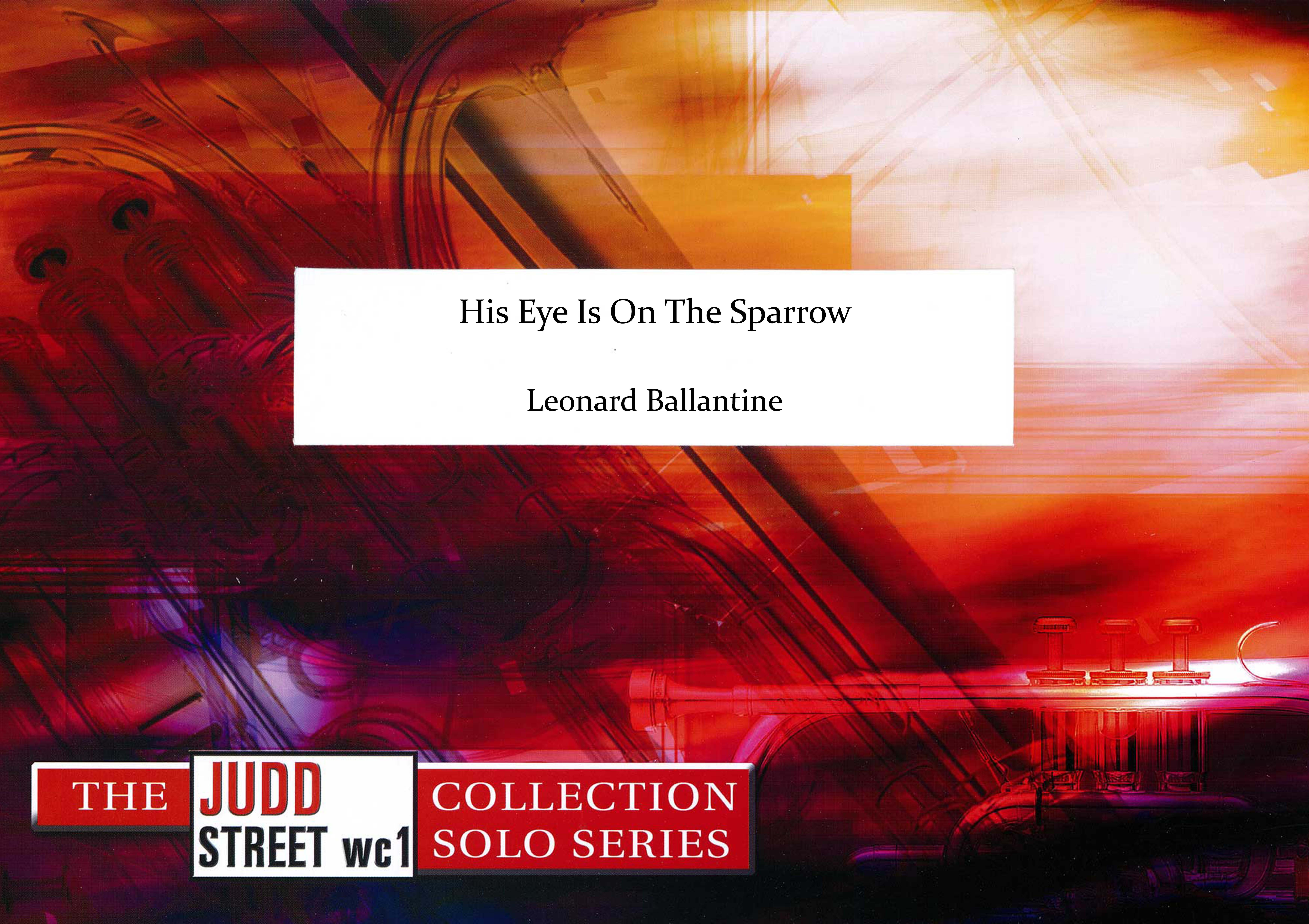 His Eye Is On The Sparrow (Tenor Horn Solo with Brass Band - Score and Parts)