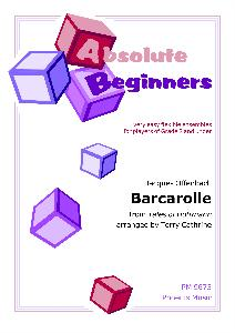 BARCAROLLE (from The Tales of Hoffmann) (Absolute Beginners)