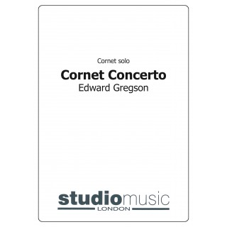 Cornet Concerto (Gregson) (Brass Band - Score only)