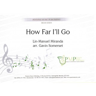 How Far I'll Go (from Moana) (Brass Band – Score and Parts)