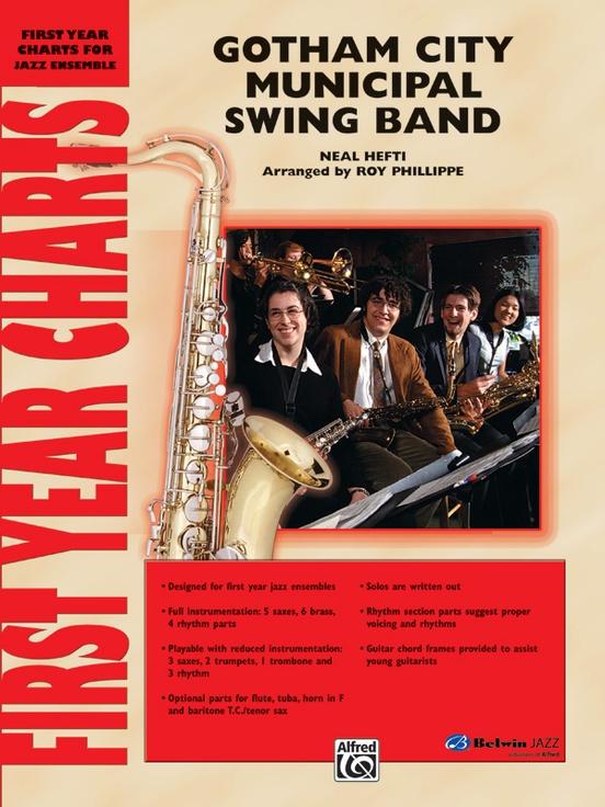Gotham City Municipal Swing Band (Jazz Ensemble - Score and Parts)