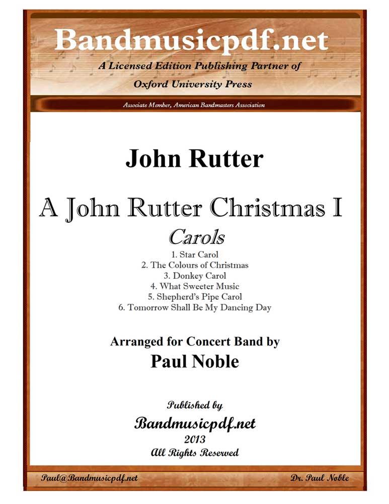 A John Rutter Christmas I - Carols (Concert Band - Score and Parts)